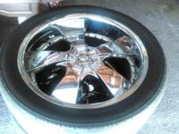 "I have 4 qty 22"" Chrome Rims very nice(used) with"
