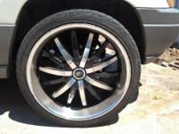 FOR SALE-22 INCH RIMS, BLACK AND SILVER GOOD CONDITION
