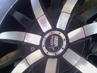FOR SALE 22' RIMS, CHROME & BLACK ( WITH TRADE ONLY,
