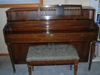 Wurlitzer Piano. Model #2636, unsure of year. This