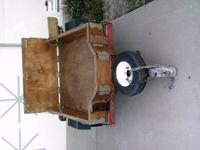 For sale a nice, small, metal trailer for atv or for