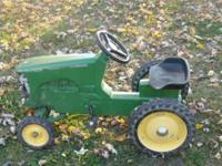 Description I have a kids ride on john deer tractor for