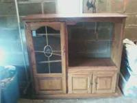 For Sale Is a nice entertainment center with glass