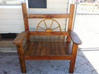 I have a hand made Wagon tire rustic bench available. I