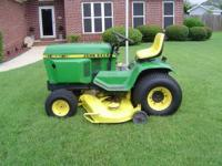 "John Deere 400 tractor, 60"" deck runs and looks good"
