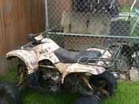 2012 Chinese 150cc ATV with snorkel and mud paddle