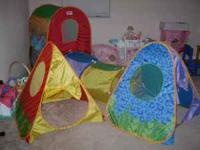 For sale a 5 piece play house/tunnel. All 5 pieces come