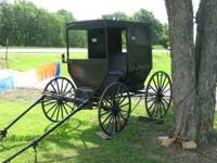 AMISH BUGGY- ALL BLACK AND IN GREAT CONDITION.. THIS IS