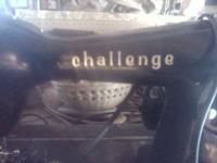 Heavy duty antique sewing machine by challenge 75$ firm