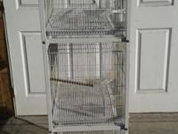 Semi used 3 cages (24 by 16 by 16) and stand with
