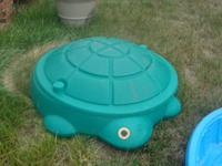 for sale green turtle sand box with lid little tykes