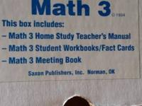 Saxon Math 3, Home Study Kit I used the Saxon Math Home
