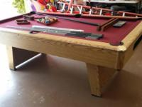 For sale a 7 foot Pool Table. I paid $1,300 for this