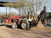 Ford 1710 tractor with loader and backhoe. 4wd 3 cyl
