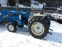 Nice clean Ford 1715 4wd with loader. 27hp diesel