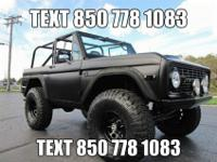 1974 FORDBRONCO SPORT 4X4SATIN BLACKFEATURES AND