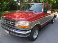 1992 Ford F150 Super Cab XLT 4x4, Maroon/Gray with gray