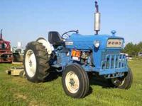 Ford 2000 Power Steering Gas Motor This tractor runs