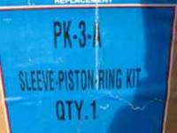 FORD 2N-8N AND 9N SLEEVE-PISTON-RING KIT. NEW IN BOX