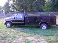 1999 f 350 v-10 with sevice bed new rebuilt trans well