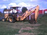 I have my backhoe for sale. It has 400-500 hours on the