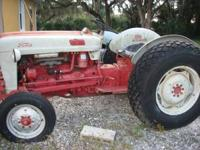 this is a 56 ford 600 tractor , was running when