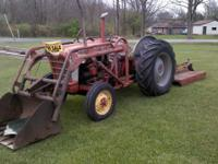 54 ford 801 select o matic 10 speed tractor with brush