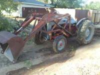 ford 851 tractor with loader box scrape and offset disc