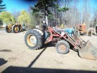 Ford 860 model gas tractor with hydraulic loader three