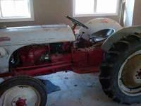 Ford 8n tractor runs good. 12V system.... New battery,