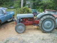 1950 Ford 8n Red Belly Tractor runs great nothing wrong