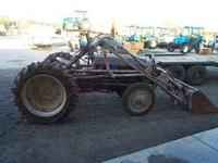 "Ford 8N tractor with front end loader. 48"" bucket, Cat."