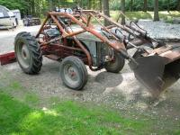 1949 FORD 8N WITH DEARBORN LOADER, BACK BLADE AND TIRE