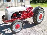 Nice Ford 9N Tractor. Runs Good. New Paint, New