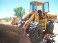 FORD A66 FRONT END LOADER 3 YARD BUCKET. MOTOR AND