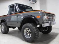 You are looking at a real cool old school Bronco with