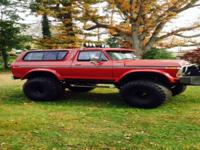 1978 Ford Bronco with 460 Cubic inch big block lincoln