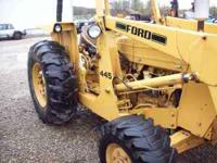 ford 445 front end loader with box blade. Only 360