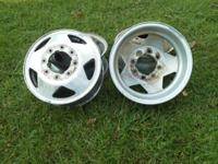 "16"" Dually wheels for sale. 2 steel and 3 aluminum. Fit"