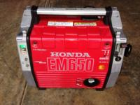 HONDA EM650 GAS POWERED PORTABLE GENERATOR 4 STROKE