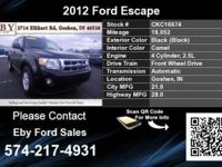 Call Eby Ford Sales at . Stock #: CKC16674. Year:
