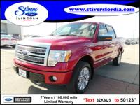 Hurry, this 2010 Ford F-150 Platinum won't last long!!!