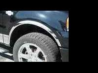"NEW FORD F-150 4PC CHROME 2"" WIDE FENDER WELL TRIM."