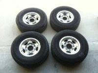 "A complete set of (4) Ford F250 (8 lug) stock 16""wheels"