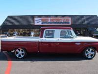 You are looking at a very rare 1966 Ford crew cab.