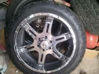 For sale chrome 22s on bridgestone dueler 285-45-22