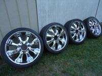 "I HAVE A COMPLETE SET OF 24"" KAOTIK WHEELS AN TIRE'S"