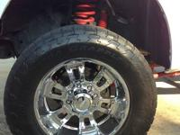 "Ford F250 wheels and tires. Wheels are 20"" And tires"