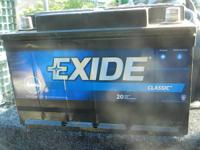 This is an almost brand new Exide Battery purchased 2