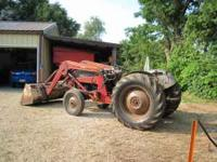 1953 Ford NAA, 8 speed trans., 3 point hitch, draw bar,
